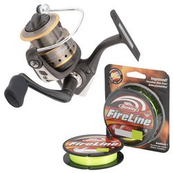 Abu Garcia Cardinal SX Spinning Reel with Fireline Braided Line